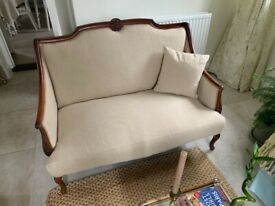 Reupholstered Victorian Sofa