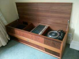 HMV retro radiogram with garrard turntable for sale in BOURNEMOUTH