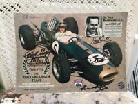 F1 Memorabilia Rare Sir Jack Brabham Signed Print, used for sale  Taverham, Norfolk