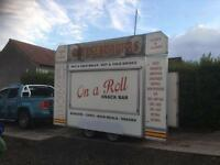 SNACK VAN BURGER WAGON READY FOR USE CLEAN TIDY EVERYTHING WORKS AS IT SHOULD