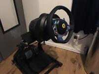 Thrustmaster 458 race wheel with stand