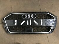 AUDI A1 GENUINE S LINE FRONT BUMPER CENTRE RADIATOR GRILL GRILLE P/N: 82A853651B (2018-2021)