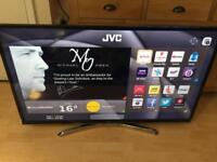 """JVC 48"""" smart 4K led WiFi freeview with line on screen"""