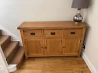Solid oak sideboard, immaculate condition