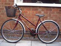 """Ladies 20"""" bike with basket."""