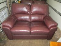 two leather two seater sofas