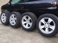 R18 BMW X5 X6 wheels with 255/55 tyres staggered 5x120 vw t5