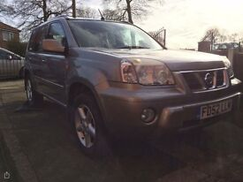 Nissan x-trail,4wd,8 month mot,full heated cream leather interior,tow bar,full electric packwindows