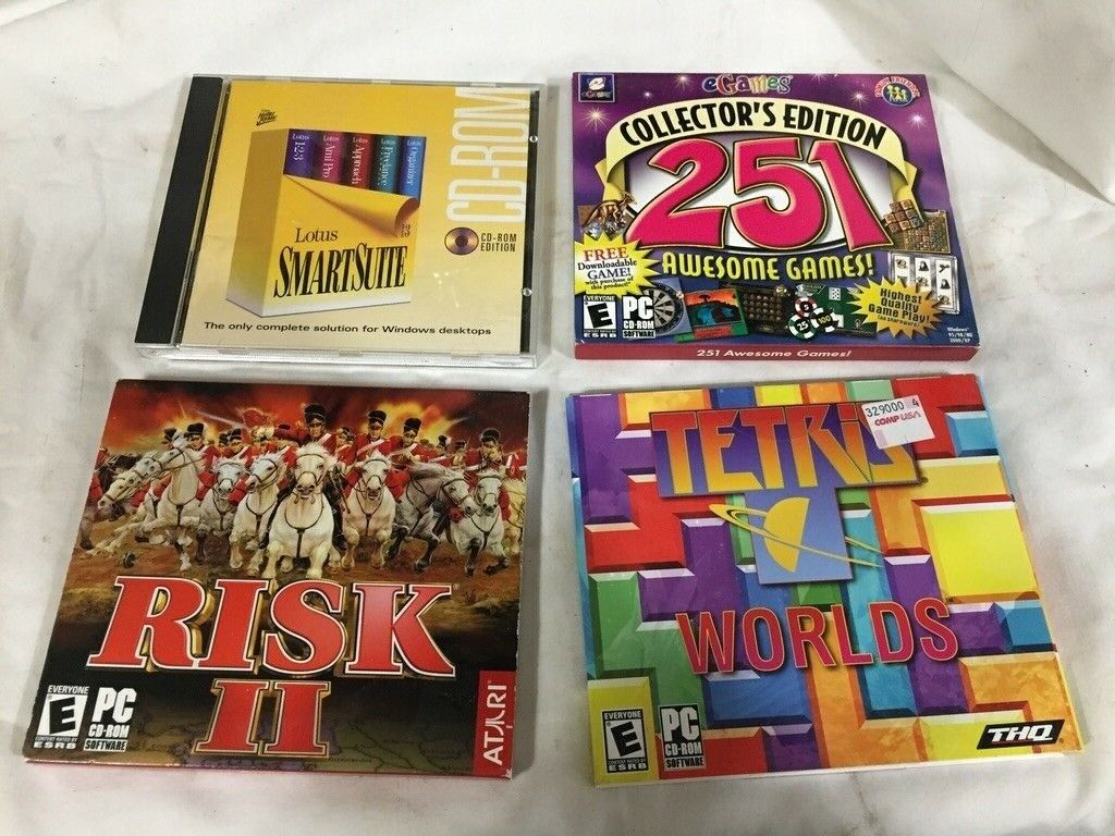 Computer Games - Vintage Computer Games CD Lot Of 15