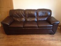 Leather Settee in good condition hardly ever used.