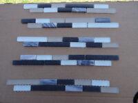 Mosiac tiles on backing strip. New.