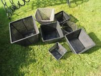 7 POND BASKETS FOR POND PLANTS ASSORTED SIZES