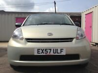 2008 DAIHATSU SIRION 988 CC 5 DOOR MOT 06/09/2018 FULL YEARS TAX £30 £1295 NO VAT