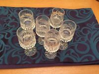 Six Crystal glasses for sale. Mint condition