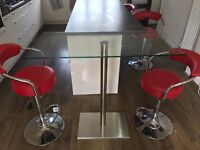 Dwell Glass Bar Table - excellent condition , currently retailing at £249