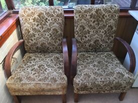 Armchairs x 2 - ideal for upcycle/recovering
