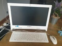 Lenonvo white 19.5 inch all in one computer