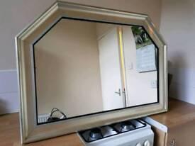Silver effect mirror