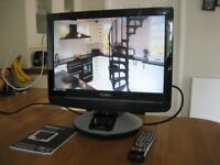 """19"""" LCD TV/DVD with IPOD connectivity and built in Freeview"""
