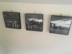 3 frame city scape