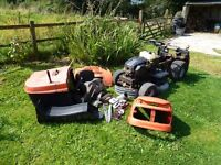 Husqvarna CTH151 ride on lawnmower with galvanised deck + face hardend blades