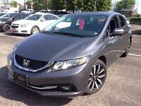 2014 Honda Civic Touring, Navigation, leather, sunroof, One owne