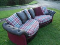 Modern Rich Chesterfield Type Sofa With Button Back Arms And Base