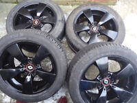 BMW 4 x 17 Blac Mat ALLOY WHEELS and Tyres Will Fit 2001-2014 Renault Trafic Nissan Primstar