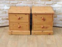 Pair of chunky bedside cabinets (Delivery)