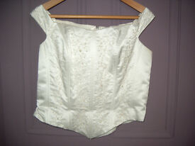White Size 18 Separate Wedding Bodice and Skirt