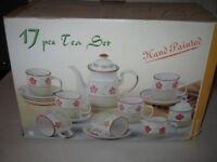 17 Piece Tea Set (Hand Painted)