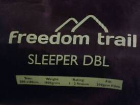 Air bed, single nd double sleeping bag..