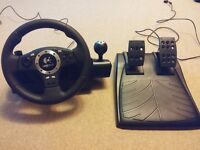 Logitech Driving Force Pro Force Feedback Wheel, Inc pedals + Shifter