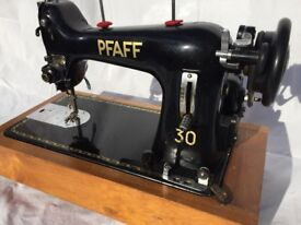 Pfaff 30 sewing machine in very good working order with zig zag attachment