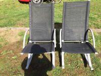 2 rocking garden chairs