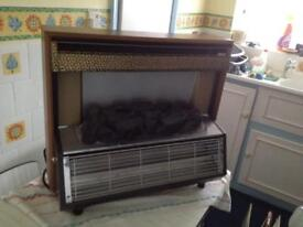 Vintage Berry Magicoal 2 bar electric Fire