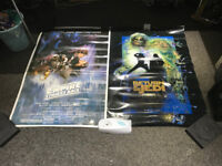 Star Wars Return of the Jedi and the Empire Strikes back 3ftX2ft Film Posters with replica signature
