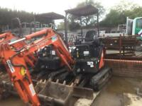 Hitachi Zaxis 17u 1.5t Mini Digger 2014 Machine