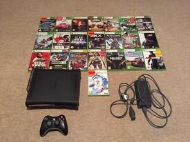 Xbox 360 120GB HDD, 1 controller and 22 games