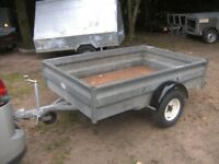 6 X 4 GALVANISED GOODS TRAILER 750KG UNBRAKED WITH DROPTAIL...