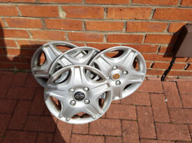 "Full Set Of 14"" Nissan Micra Wheel Trims – Taken Off Old Shape 52 Reg - £10"