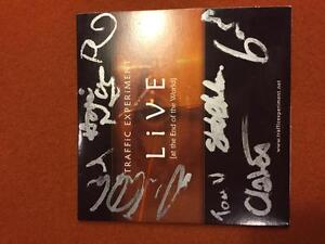 Autographed Traffic Experiment CDs