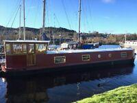 57 x 10 Widebeam Boat Barge Houseboat Liveaboard