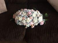 Bridal bouquet and table arrangement
