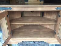 Tv corner cabinet pine