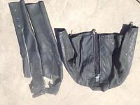 Arlen Ness motorcycle leather jacket chaps women's