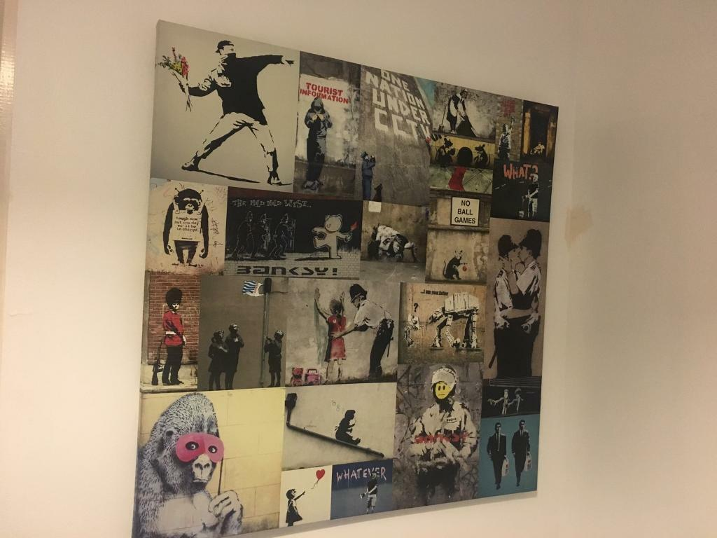 Banksy large wall art