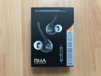 RHA T20i High fidelity noise-isolating DualCoil in-ear headphones (Black)