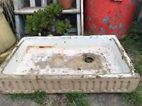 Vintage White Glazed Butler Sink Garden Planter Belfast Sink Pond Reclaimed
