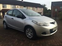 2009 mazda 2 1.4 diesel full yr mot £20 road tax 5 doors low mileage (fiesta 207 clio polo corsa)